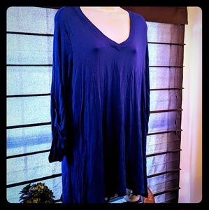 Fever brand new with tags blue tunic top women's L